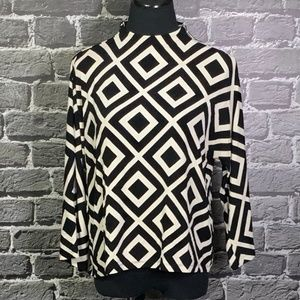Travelers by Chico's Geo Print Mock Neck Top 2 / L